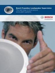 Bosch Praesideo Loudspeaker Supervision The next step in more ...
