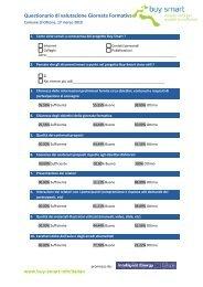 Questionario di valutazione Giornata Formativa - Buy Smart