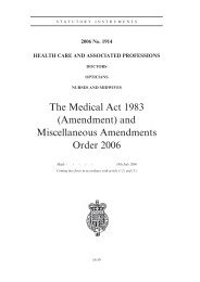 The Medical Act 1983 (Amendment) and Miscellaneous ...