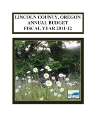 budget development flow chart - Lincoln County, Oregon