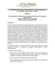 La Universidad Nacional Autónoma de México, a través del Instituto ...
