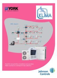 Read this manual before installation and operation ... - KLIMA s.r.o.