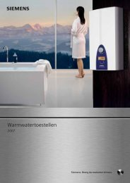 Brochure siemens warmwatertoestellen - GoLanTec