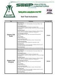 Soil Tests - Swep