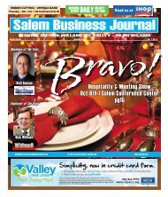 Oct. 13st - Salem Business Journal