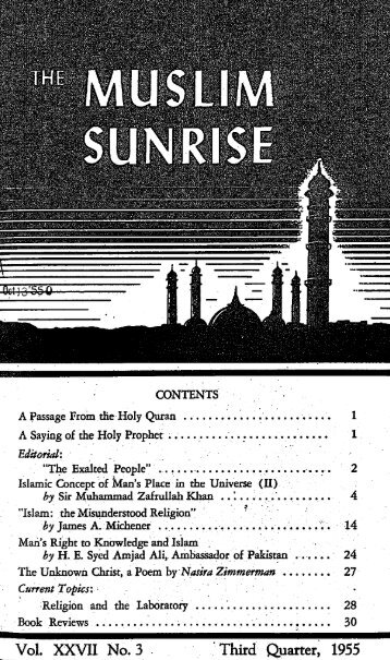 1955, III - The Muslim Sunrise