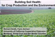 Building soil health for crop production and the environment