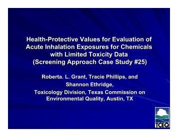 Presentation Slides - Alliance for Risk Assessment
