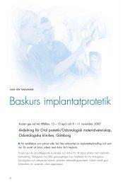 Baskurs implantatprotetik - Astra Tech