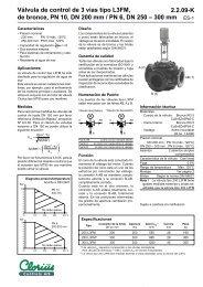 Válvula de control de 3 vías tipo L3FM, de bronce ... - Clorius Controls