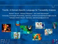 TracQL: A Domain-Specific Language for ... - wicsa/ecsa 2012