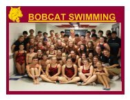 BOBCAT SWIMMING - South Windsor Community Foundation