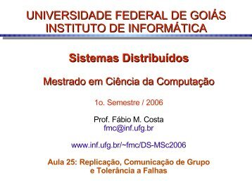 RM - Instituto de Informática - UFG