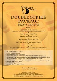 Double Strike Package - Raffles Town Club