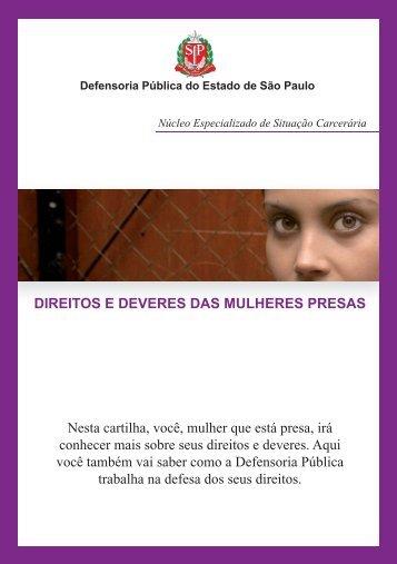 Cartilha Mulheres Encarceradas - Defensoria