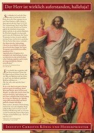 April 2002 - Institut Christus König und Hoherpriester