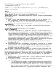 2013-05-01 Excomm Meeting Minutes (draft) - Arizona Sierra Club