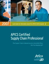 APICS Certified Supply Chain Professional®