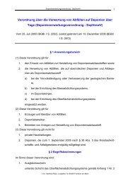 Verordnung über die Verwertung von Abfällen auf Deponien über ...