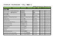『HARUKI MURAKAMI ~村上 春樹~』