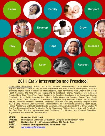 2011 Early Intervention and Preschool Conference - Ucpconference ...