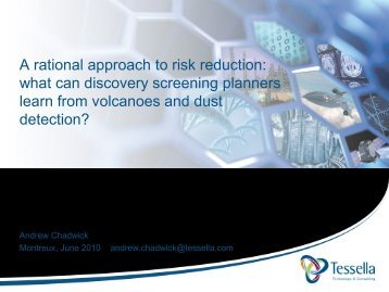 A rational approach to risk reduction - Optibrium