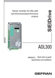 ADL300 Elevator Drives for Synchronous ... - Sprecher + Schuh
