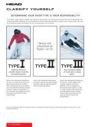TYPE I TYPE II TYPE III - Tyrolia