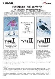skiläufertyp die zuordnung ihres fahrkönnens - Tyrolia