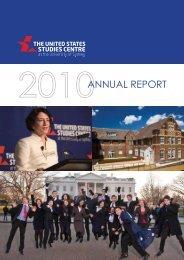 Annual Report 2010 - United States Studies Centre