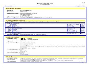 Material Safety Data Sheet - MyAutoProducts.com