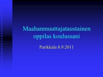 Maahanmuuttajataustainen oppilas koulussani - Edu.fi