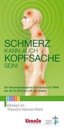SCHMERZ KOPFSACHE - Theodor-Wenzel-Werk e.V.