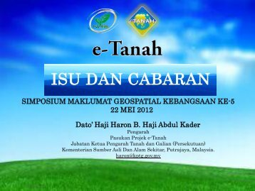 A Review On e-Tanah - Malaysia Geoportal