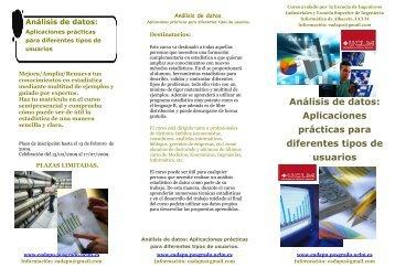 Análisis de datos - Estadística e Investigación Operativa, UCLM