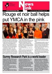 Rouge et noir ball helps put YMcA in the pink - Surrey Chambers of ...