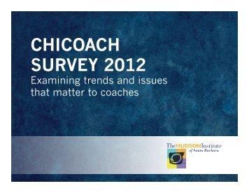 CHICOACH SURVEY 2012