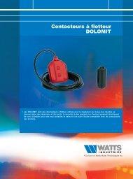 Contacteurs à flotteur DOLOMIT - Watts Industries