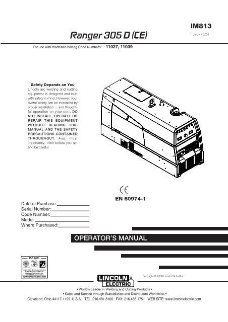 lincoln 305g wiring diagram ranger 305 d  ce  sveiseeksperten  ranger 305 d  ce  sveiseeksperten