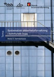 Systematisk sikkerhetsforvaltning i kommunale bygg. Modul 2