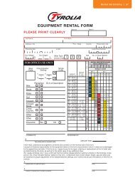 equipment rental form - Tyrolia