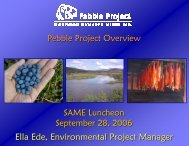 Pebble Project Overview - SAME Anchorage Post