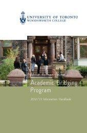 WDW ABP 2012/13 HandbookCovr - Woodsworth College ...