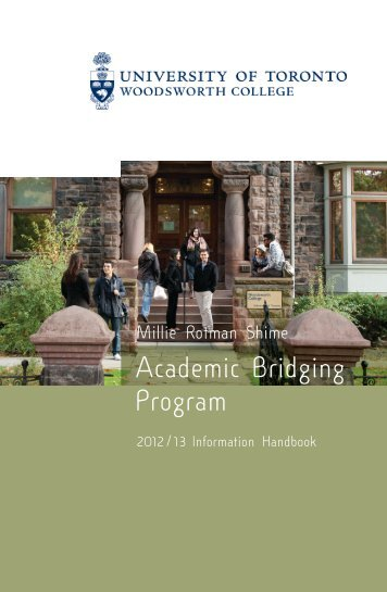 WDW ABP 2012/13 HandbookCovr - Woodsworth College ...