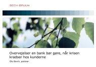Overvejelser en bank bør gøre, når krisen kradser hos ... - Bech-Bruun