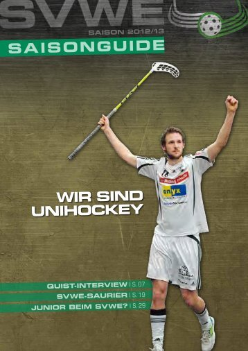 Saison-Guide 2012/13 - SV Wiler-Ersigen