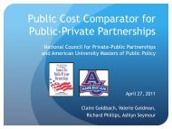 view the presentation - The National Council for Public-Private ...