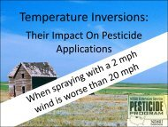 Temperature Inversions and Their Impact On Pesticide Applications