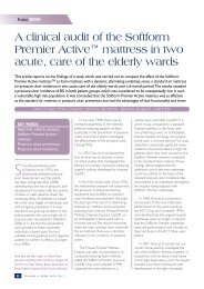A clinical audit of the Softform Premier Active™ mattress ... - Invacare