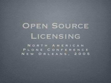 Open Source Licensing - Plone